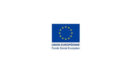 Logo union européenne : fond social européen