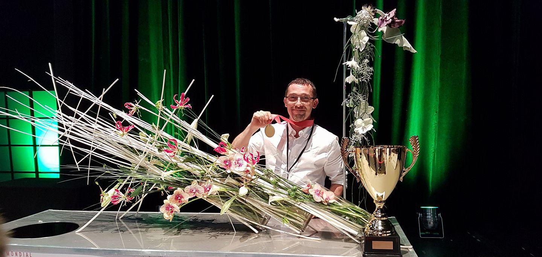Cedric Tranchant : Médaille d'or au Concours Mondial des Fleuristes2017 lors du Salon Novafleur à Tours